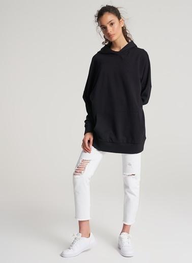 Pi π Oversize Kapüşonlu Sweatshirt Siyah